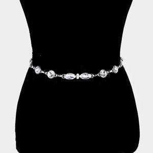 Embellished Crystal Waist Belt